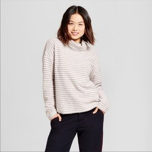 A New Day Turtle Striped Neck Sweater Top